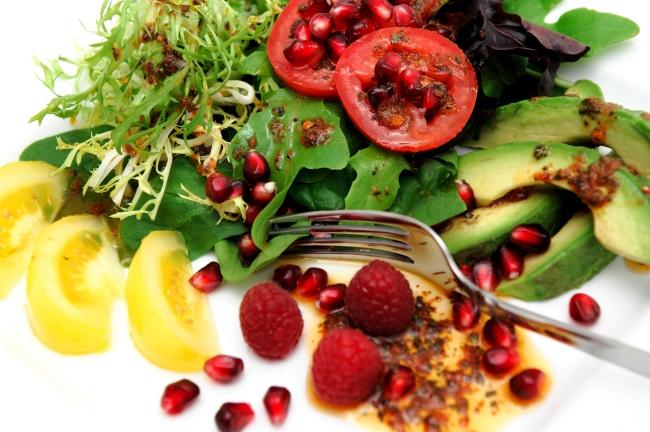 pomogranate-avocado-salad