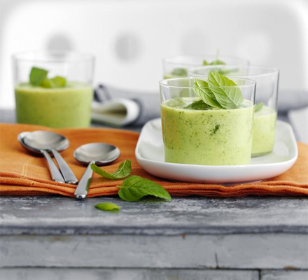 A lovely light blend with goat's yogurt for a nice tangy finish - serve with ice cubes as a refreshing summer starter
