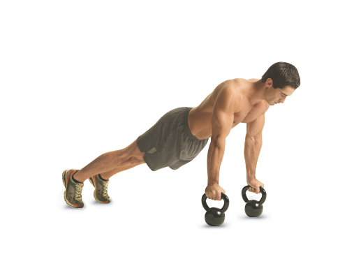 kettlebell-pushup