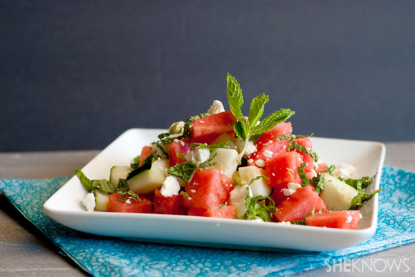 This salad is healthy, tasty and light! Image via www.sheknows.com