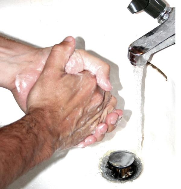 So, you wash your hands 20 times a day and disinfect the commode after every single use?  Image via wikipedia
