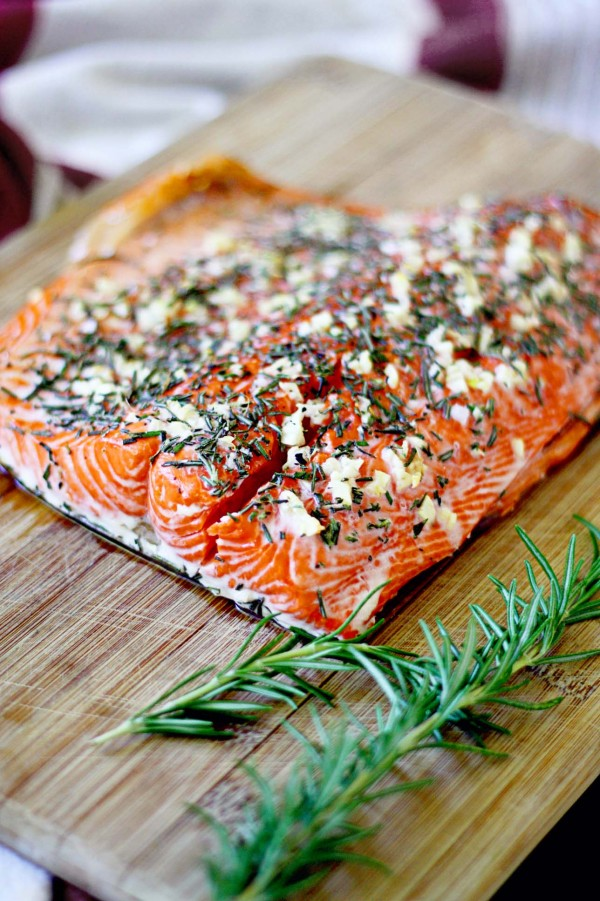 Rosemary and Garlic Salmon  Image via www.insockmonkeyslippers.com