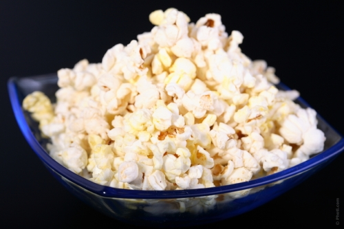So say No to packaged microwave popcorn and buy fresh popcorn that you can air-pop on your own. Add real butter if you want