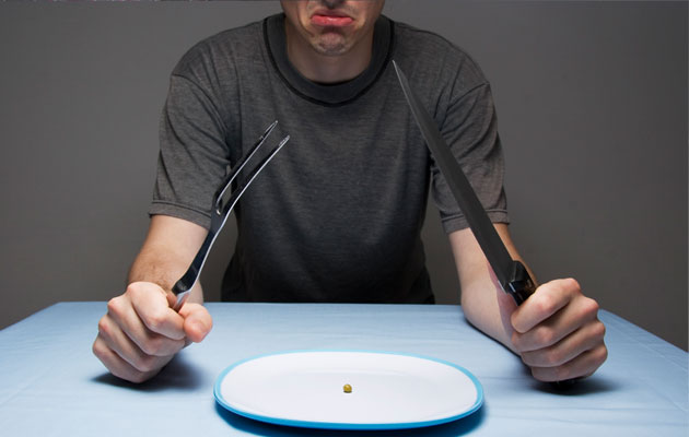Men with eating disorders often restrict food intake, watch what they eat like hawks. Image via http://www.healthxchange.com.sg