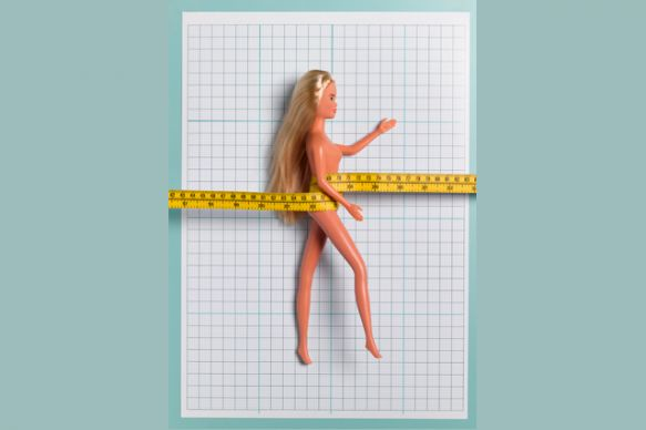 Research published in the International Journal of Eating Disorders showed that to achieve Barbie's figure, on average women would need to gain 24″ in height, 5″ to their bust and 3″ to the length of their neck, while losing 6″ from their waist.