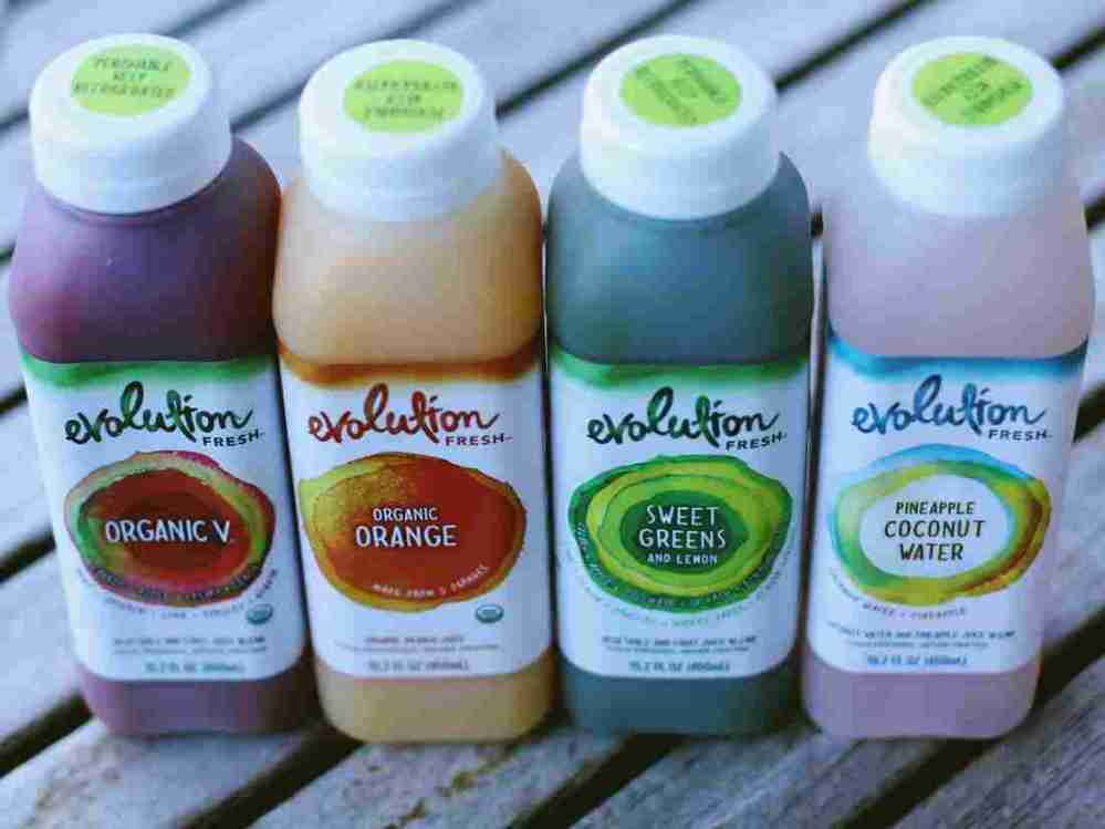 Evolution Fresh is the cold pressed juice range from Starbucks. The company says it's betting its customers will make this juice a part of their daily habit — an additional beverage they pick up with their coffee in the morning.