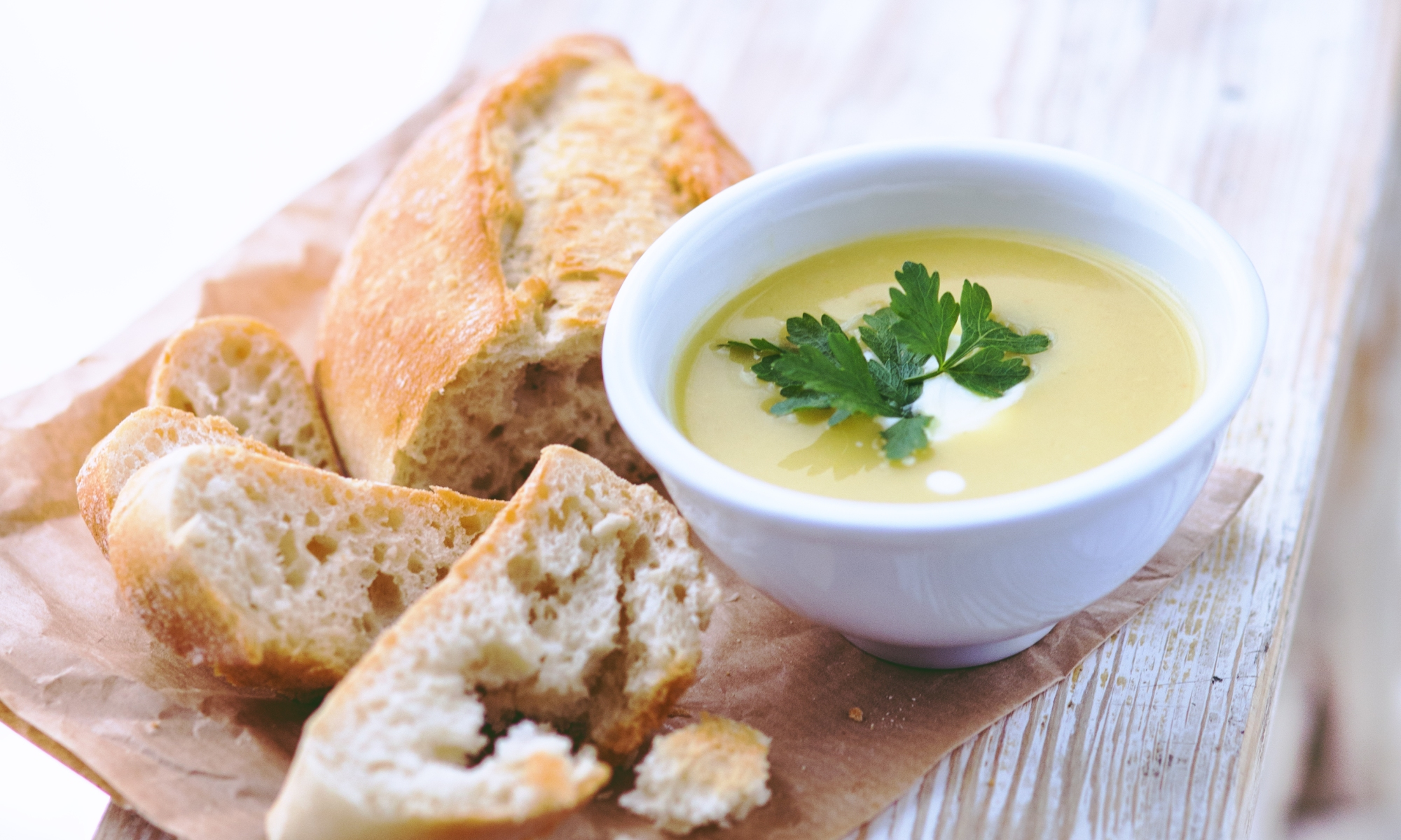 Recipe: Leek and Potato Soup with Gluten Free Bread