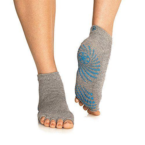 Gaiam Grippy Toeless Yoga Socks