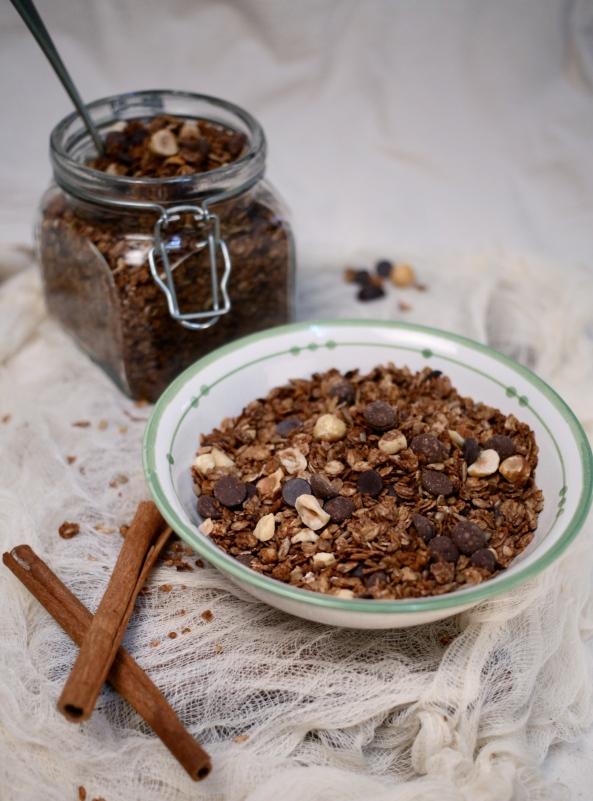 chocolate granola 1