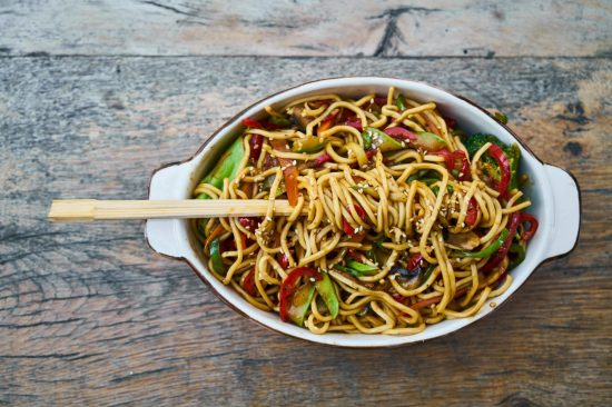 Vegan Spicy Stir Fried Noodles