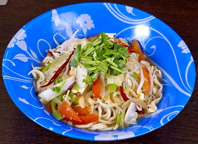 Sautéed Rice Noodles with Veggies